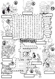 FEELINGS #4 WORDSEARCH and CRISS CROSS PUZZLE