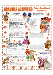 English Worksheet: FUTURE CONDITIONAL SENTENCES - GRAMMAR REFERENCE + PRACTICE