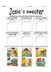 English Worksheets: Josie´s sweater