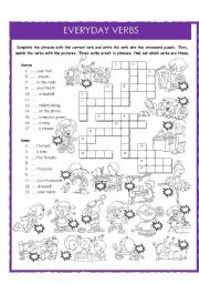 English Worksheets: Everyday verbs
