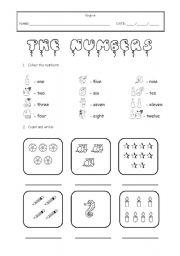 The Numbers - ESL worksheet by Sally_Star