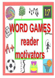 English Worksheet: WORD GAMES - to motivate reading