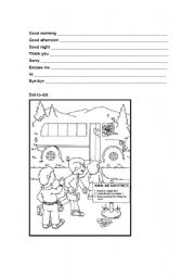 English Worksheets: Intro Class