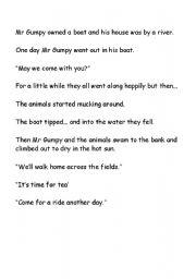 English Worksheets: Mr Gumpy