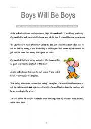 English Worksheets Cliche Comprehension Passage