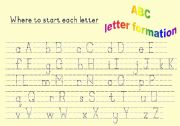 LETTER FORMATION WORKSHEETS WITH ARROWS