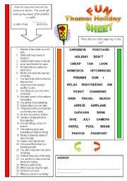 English Worksheets: Fun Sheet Theme: Holiday
