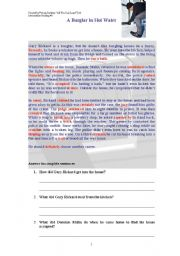 English Worksheets: The robbery