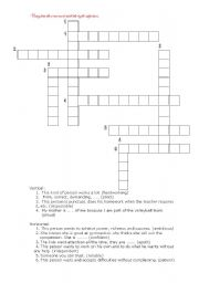 English Worksheet: crosswords (for adjectives)