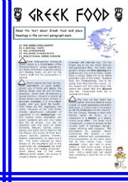 GREEK FOOD: READING AND REVISION OF PASSIVE AND ACTIVE VOICE