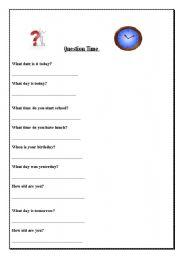 English Worksheets: Questions questions questions!