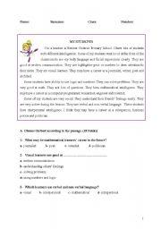 English Worksheets: My students