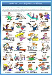 English Worksheets: MAKE or DO? � Expressions with DO