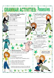 English Worksheets: POSSESSIVES - SHORT REVISION ( POSSESSIVE CASE / POSSESSIVE ADJECTIVES & POSSESSIVE PRONOUNS)