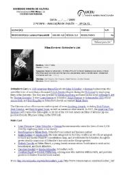 English Worksheet: Film review: Schindler�s list