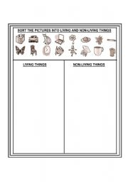 Worksheet Living Vs Nonliving Worksheet english teaching worksheets living room non living