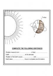 english worksheets rotation of earth. Black Bedroom Furniture Sets. Home Design Ideas
