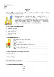 4 tests- Personal Information- The Simpsons