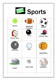 english teaching worksheets sports flashcards. Black Bedroom Furniture Sets. Home Design Ideas
