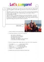 These worksheets and activities for teaching comparison of adjectives