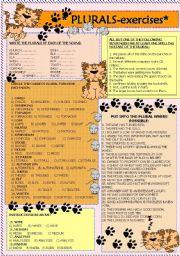 English Worksheets: plurals- exercises