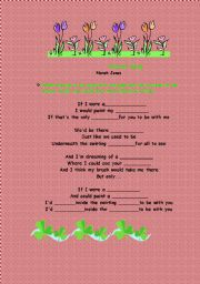 English Worksheet: Painter Song (Norah Jones)