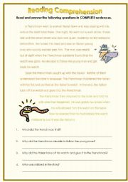 English Worksheets: Comprehension: A Robbery or a mistake?