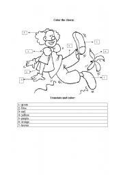 English Worksheets: clown