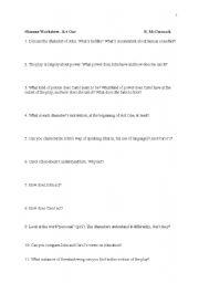 English Worksheets: Oleanna by David Mamet worksheet