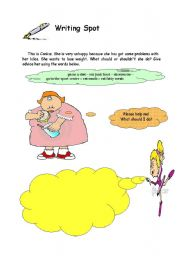 English Worksheets: Writing activity. Help CANKIZ....