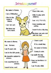 conversation activity using self introduction Part2