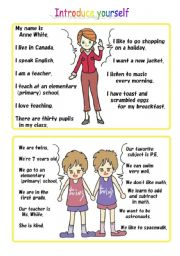 conversation activity using self introduction Part3