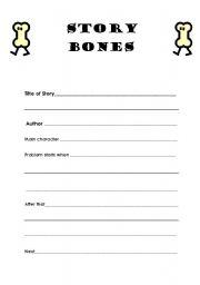 English Worksheet: Story Bones
