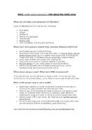 Swine Flu FAQ (World Health Organization)