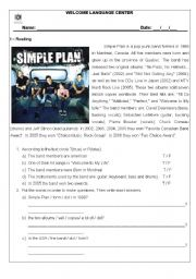 Reading - Simple Plan