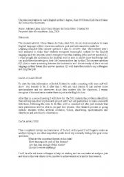 English Worksheet: The miss motivation - Research project to public schools