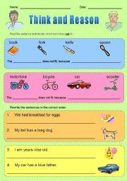 English Worksheets: Think and Reason