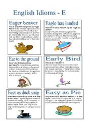 English Idioms - E