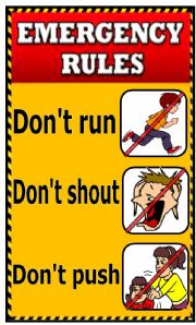 English Worksheets: Emergency Rules Wall Chart