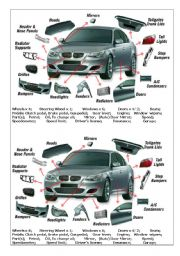 English Worksheet Car Parts