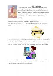 English Worksheets: Julia