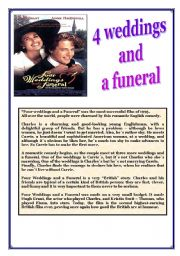 English Worksheet: Four weddings and a funeral