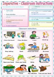English Worksheet: Imperative + Classroom instructions