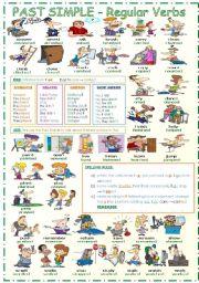 English Worksheet: Past Simple - Regular Verbs