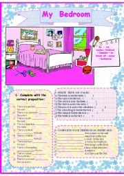 English Worksheet: My Bedroom