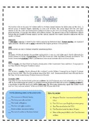 English Worksheets: The Troubles