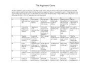 english worksheets debating the argument game. Black Bedroom Furniture Sets. Home Design Ideas