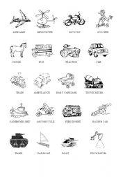 English Worksheets: Transportation