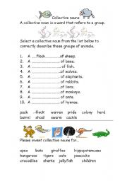 English teaching worksheets: Collective nouns