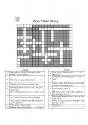 English Worksheets: Five Times Dizzy